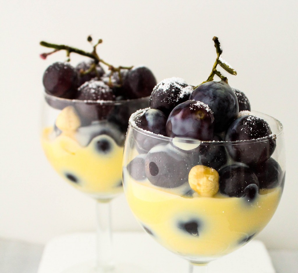 Grapes with Orange Creme Anglaise (Custard) and Hazelnuts - Sugar et ...