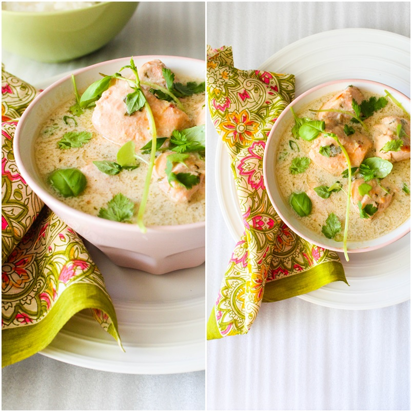 coconut poached salmon curry