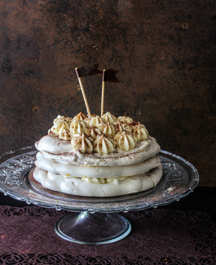 Irish cream pavlova