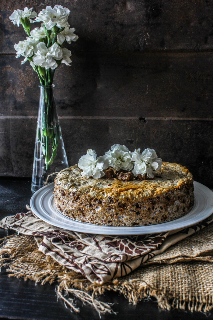 flourless snickers torte