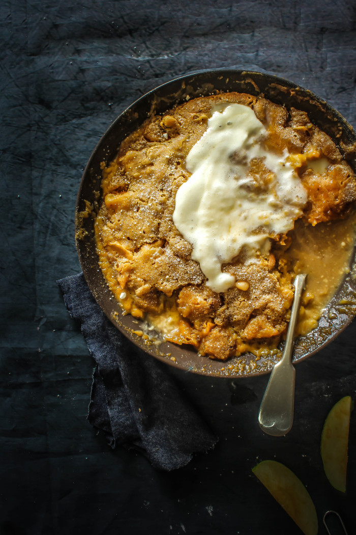 caramel toffee apple self saucing pudding