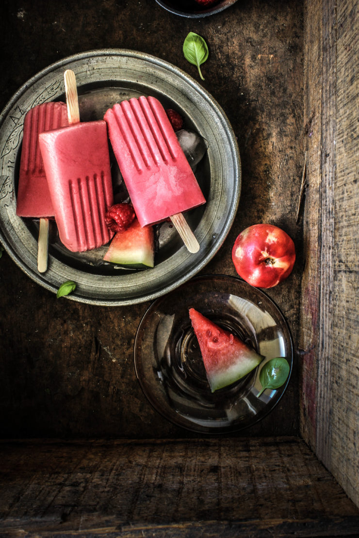 Raspberry Watermelon and White Nectarine Popsicles from Sugar Et al | Friday Favorites at anderson + grant