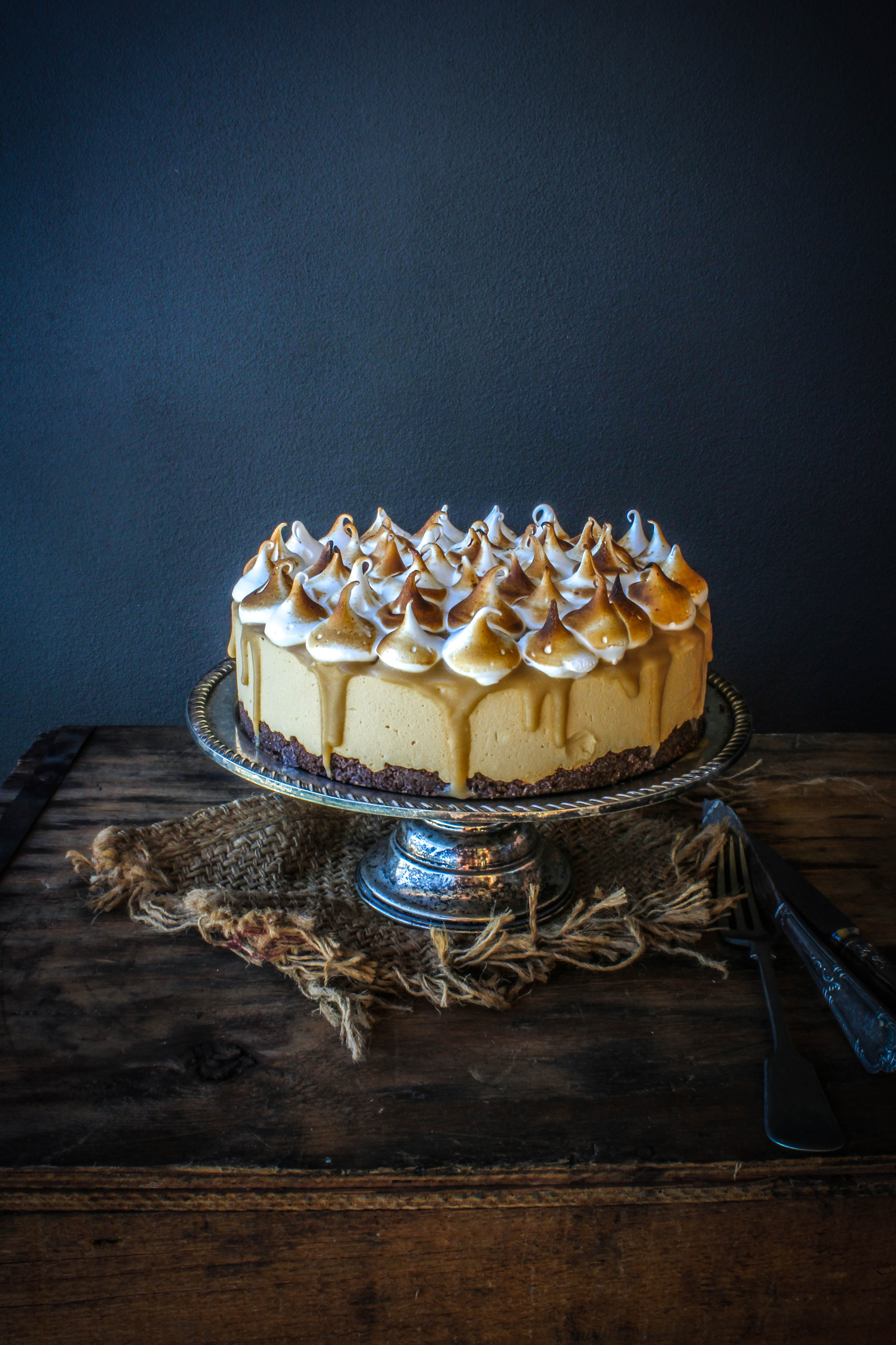 Caramel Ice Cream Cheesecake With Salted Butterscotch Sauce And ...