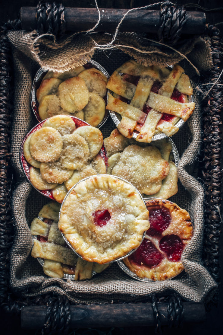plum and pear mini pies