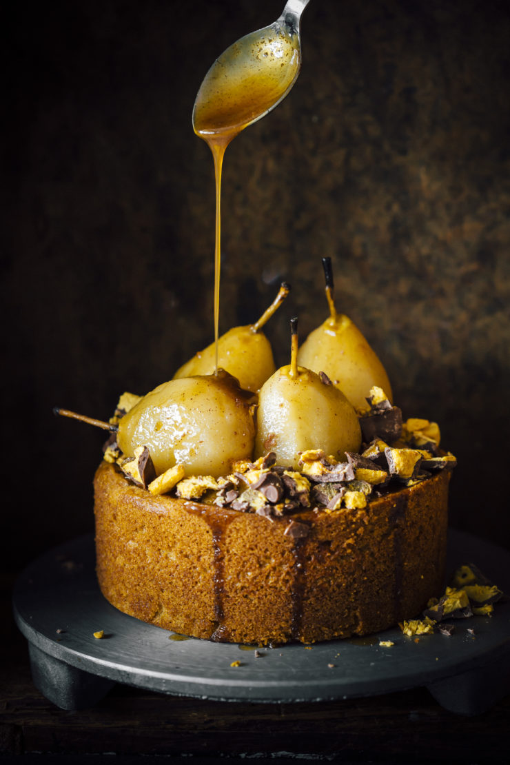 recipe: pear cake with caramel sauce [25]
