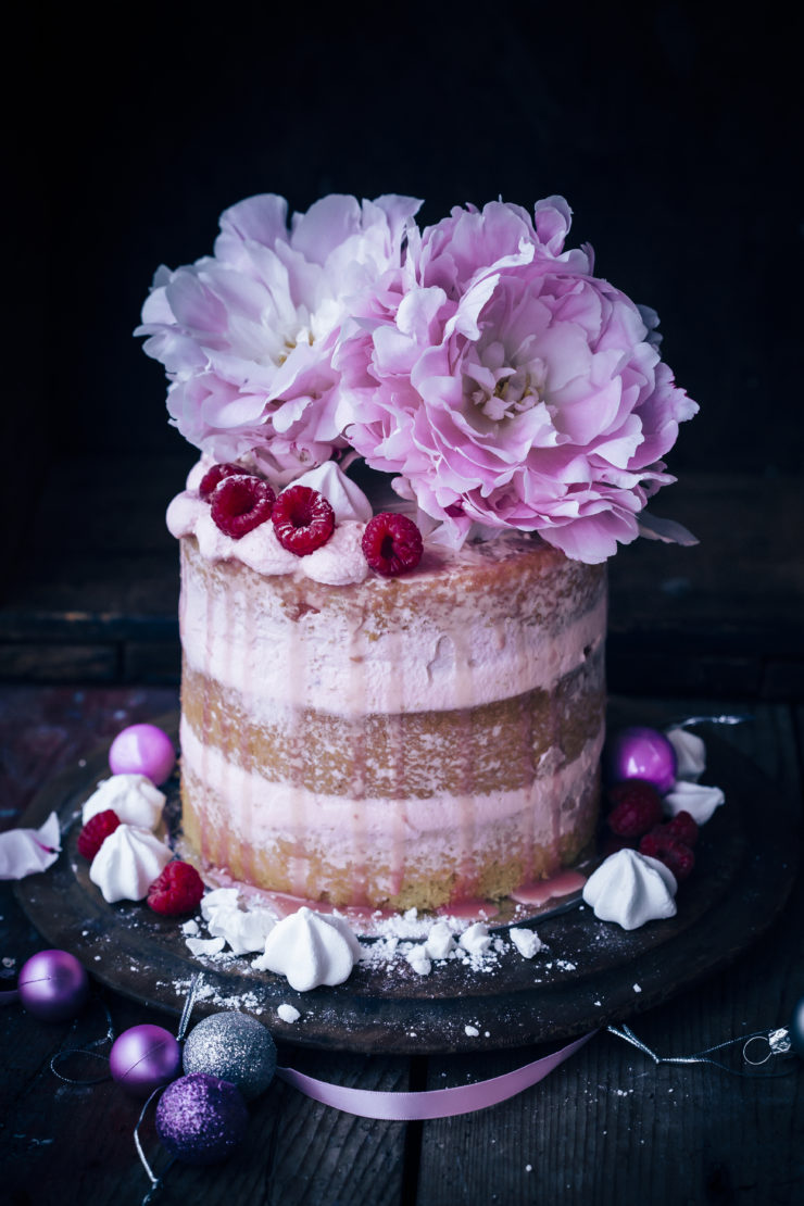 Raspberry and Rosewater Cake with Bulla Whipping Cream
