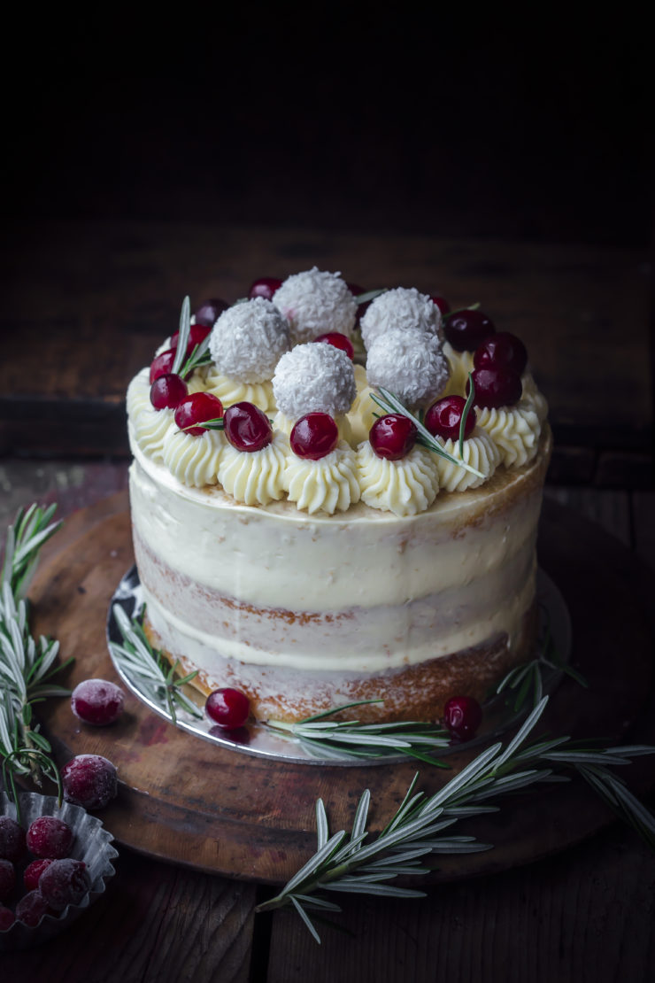 White Chocolate And Dried Cranberry Cake