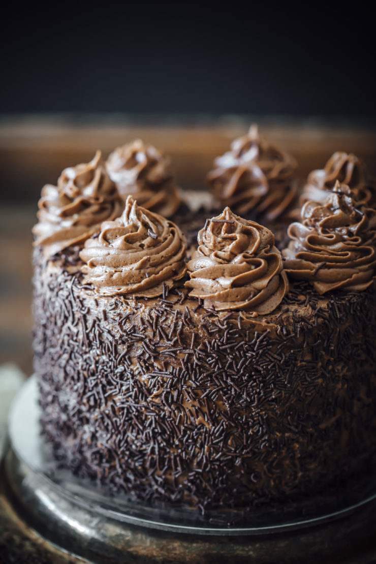One Bowl Chocolate Cake with Chocolate Cream Cheese Frosting ...