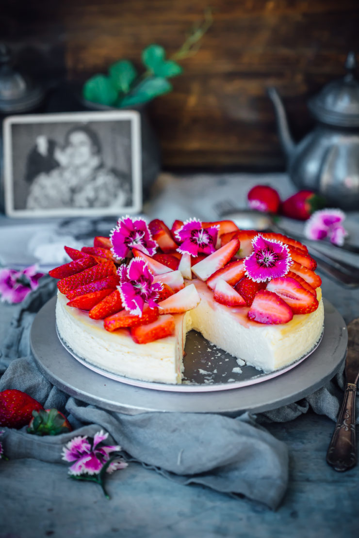 Baked Cardamom Ricotta Cheesecake with Western Union for Mother?s Day