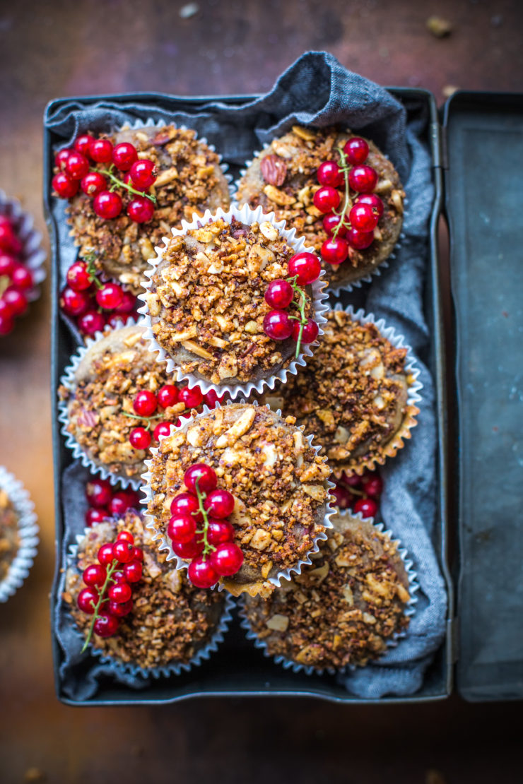 Berry and Hazelnut Streusel Muffins
