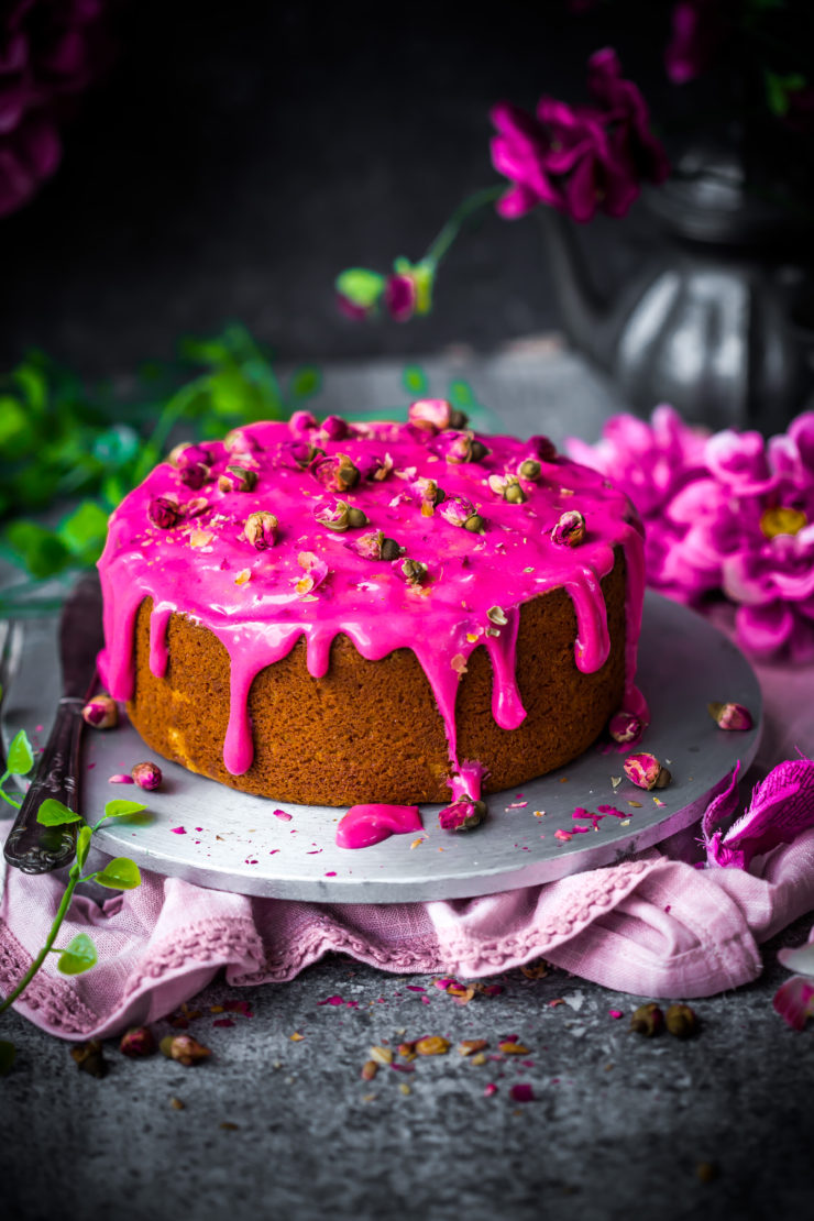 Rosewater and Coconut Cake